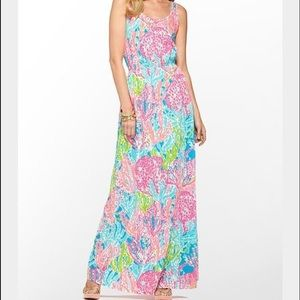 Lilly Pulitzer Tria Maxi dress in Let's cha cha